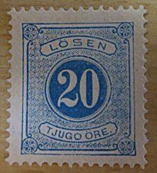 Schweden Portomarken 1877