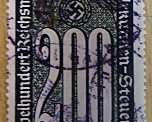 Urkundensteuer  Steuermarken 3. Reich Deutschland