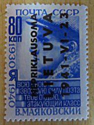 """Deutsche Besetzung Litauen Briefmarken Deutschland 1941 - """"NEPRIKLAUSOMA LIETUVA"""" Aufdruck"""