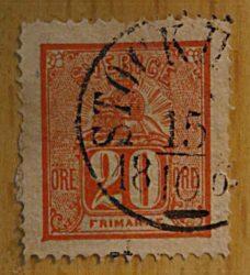 20 Öre 1866 Löwe über Wertziffer Schweden Briefmarken Sweden stamps
