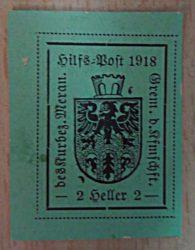 2 Heller Meraner Hilfspost 1918 Österreich Briefmarken