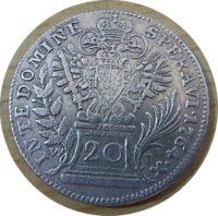 20 Kreuzer W 1764 Silbermünze Österreich - Franz I. Stephan